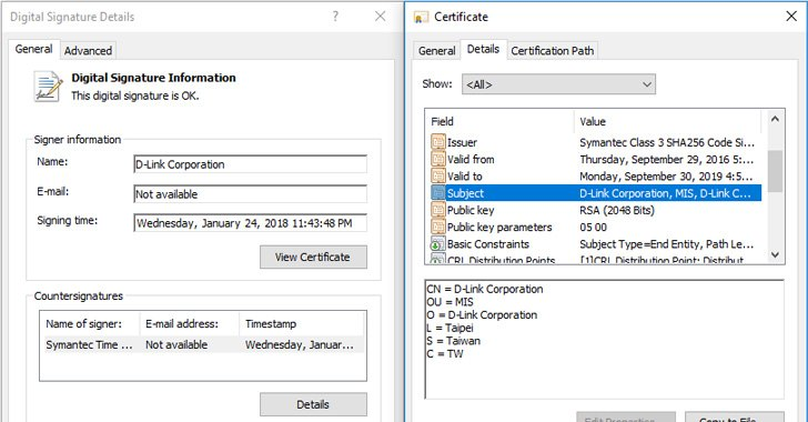 Stolen D-Link Certificate Used to Digitally Sign Spying Malware