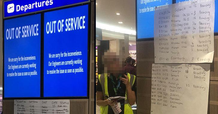 Ransomware Attack Takes Down Bristol Airport's Flight Display Screens