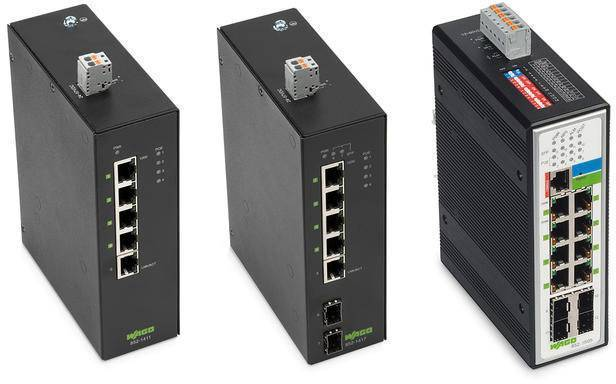 WAGO Industrial Managed Switches 852-303, 852-1305, and 852-1505