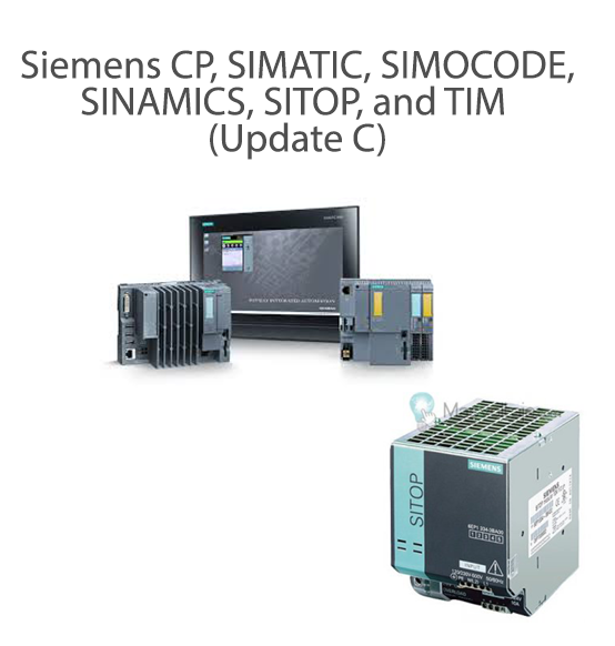 Siemens CP, SIMATIC, SIMOCODE, SINAMICS, SITOP, and TIM (Update C)